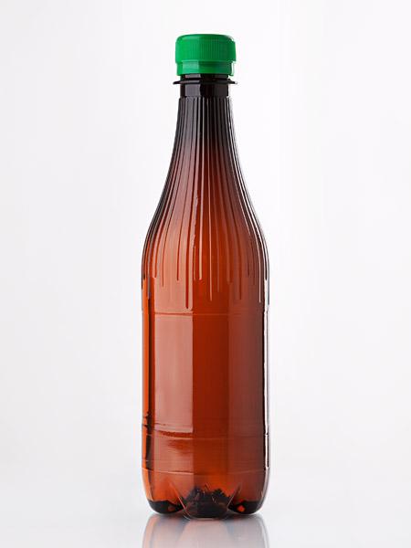 Fľaša plastová 1l hnedá s uzáverom
