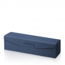Karton na 1fl modrý s vrúbkami