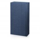 Karton na 2fl modrý vrubkový