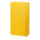 Karton na 2fl žltý vrúbkový