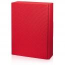 Karton na 3fl červený s vrubkami