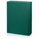 Karton na 3fl zelený s vrubkami